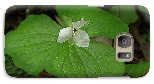 Galaxy Case featuring the photograph White Spring Trillium by Mike Eingle