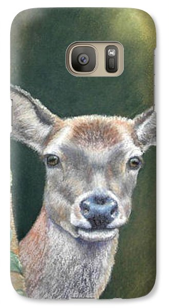 Galaxy Case featuring the painting White Tail Doe At Ancon Hill by Ceci Watson