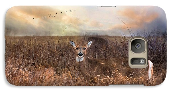 Galaxy Case featuring the photograph White Tail by Robin-Lee Vieira