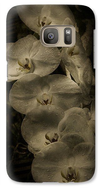 Galaxy Case featuring the photograph White Textured Flowers by Ryan Photography