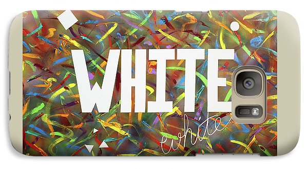 Galaxy Case featuring the painting White by Thomas Blood