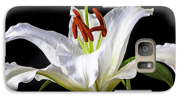 White Tiger Lily Still Life Galaxy S7 Case by Garry Gay