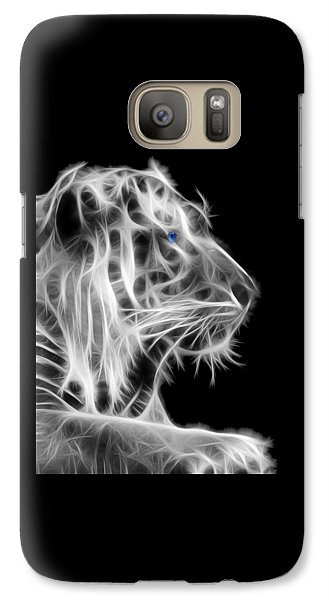 Galaxy Case featuring the photograph White Tiger by Shane Bechler