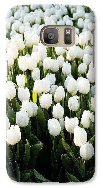 Tulip Galaxy S7 Case - White Tulips In The Garden by Linda Woods