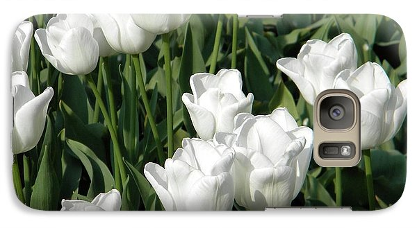 Galaxy Case featuring the photograph White Tulips by Manuela Constantin