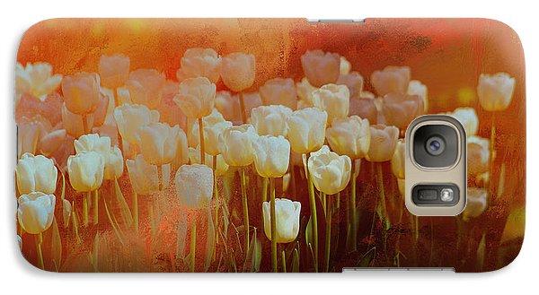 White Tulips Galaxy S7 Case