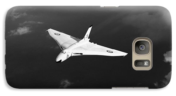 Galaxy Case featuring the digital art White Vulcan B1 At Altitude Black And White Version by Gary Eason