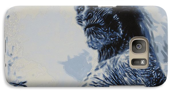 Galaxy Case featuring the painting White Walker by Luis Ludzska