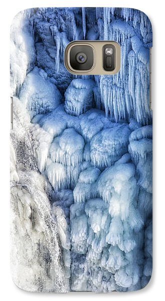 Galaxy Case featuring the photograph White Water And Blue Ice Gullfoss Waterfall Iceland by Matthias Hauser