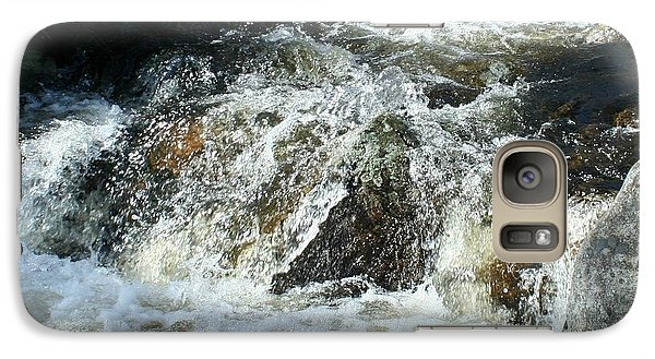 Galaxy Case featuring the digital art White Water by Barbara S Nickerson