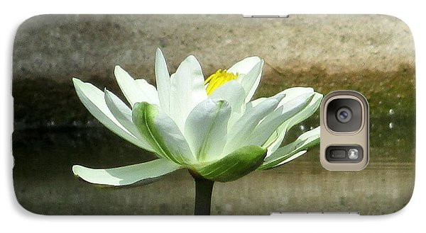 Galaxy Case featuring the photograph White Water Lily 2 by Randall Weidner