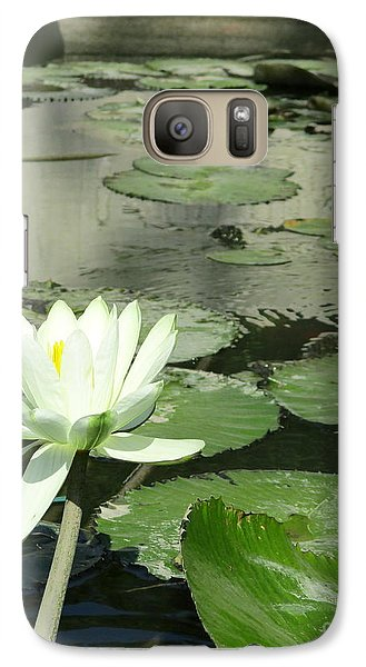Galaxy Case featuring the photograph White Water Lily 3 by Randall Weidner