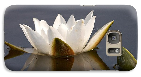 Galaxy Case featuring the photograph White Waterlily 2 by Jouko Lehto