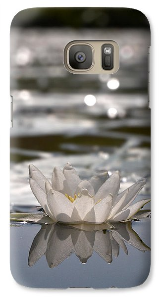 Galaxy Case featuring the photograph White Waterlily 3 by Jouko Lehto