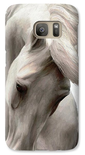 Galaxy Case featuring the painting White Whisper by James Shepherd