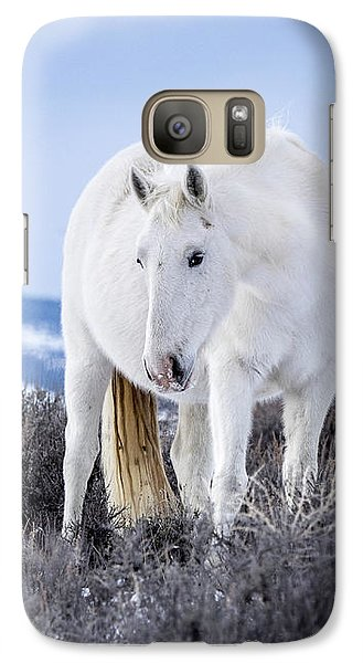 White Wild Horse Mystic Of Sand Wash Basin Galaxy S7 Case
