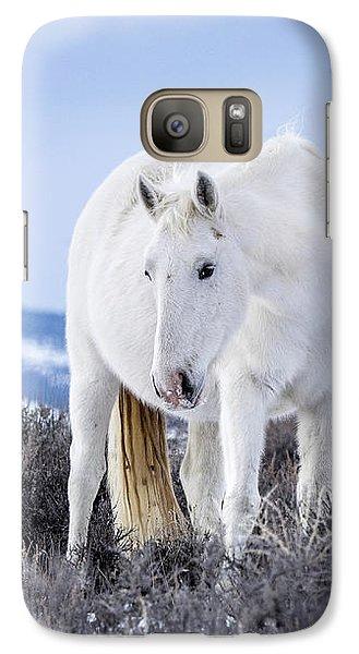 White Wild Horse Mystic Of Sand Wash Basin Galaxy S7 Case