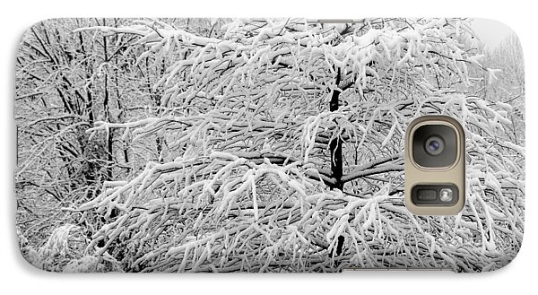 Galaxy Case featuring the photograph Whiteout In The Wetlands by John Harding
