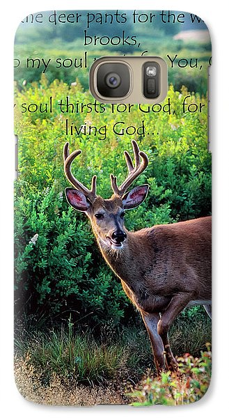 Galaxy Case featuring the photograph Whitetail Deer Panting by Thomas R Fletcher
