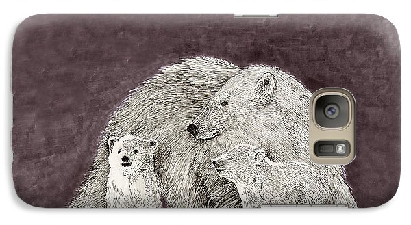 Galaxy Case featuring the painting Polar Bear Family by Jack Pumphrey