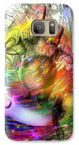 Galaxy Case featuring the digital art who is already looking into the future by Nicobielow by Nico Bielow