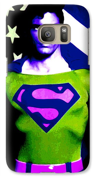 Galaxy Case featuring the digital art Who Is Superman by Saad Hasnain