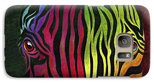 Galaxy Case featuring the painting What Are You Looking At by Peter Piatt