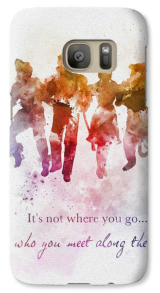 Wizard Galaxy S7 Case - Who You Meet Along The Way by Rebecca Jenkins