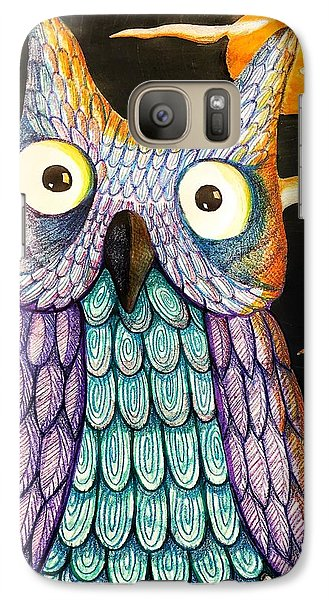Galaxy Case featuring the drawing Whom? by Jame Hayes