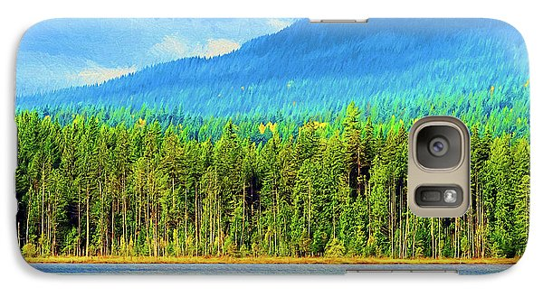 Galaxy Case featuring the photograph Whonnock Lake Mountain Photo Art by Sharon Talson