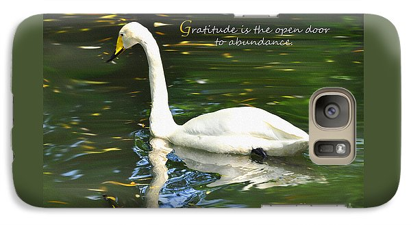 Galaxy Case featuring the painting Whooper Swan Gratitude by Diane E Berry