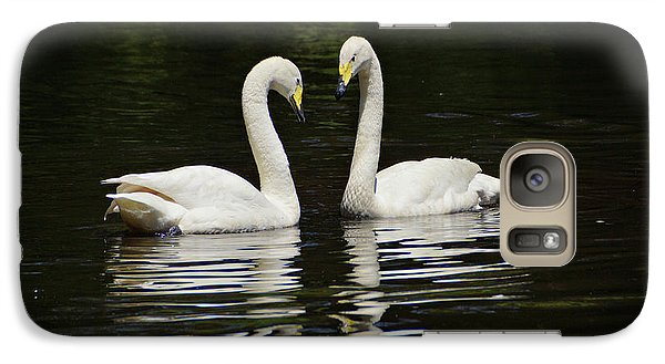Galaxy Case featuring the photograph Whooper Swans by Sandy Keeton