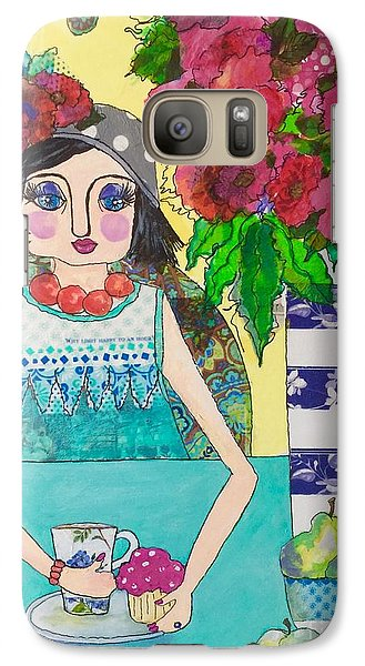 Galaxy Case featuring the mixed media Why Limit Happy To A Hour by Rosemary Aubut
