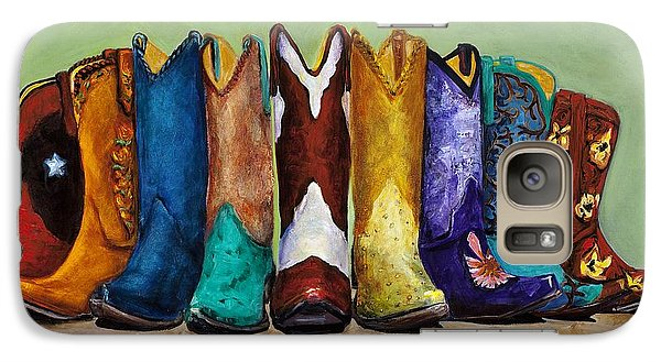 Galaxy Case featuring the painting Why Real Men Want To Be Cowboys by Frances Marino