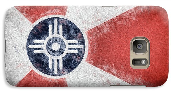 Galaxy S7 Case featuring the digital art Wichita City Flag by JC Findley
