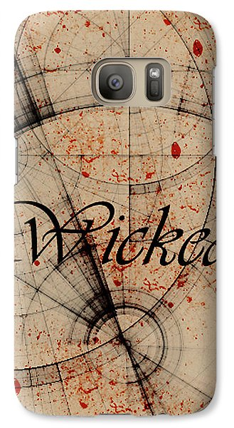 Galaxy Case featuring the digital art Wicked by Cynthia Powell