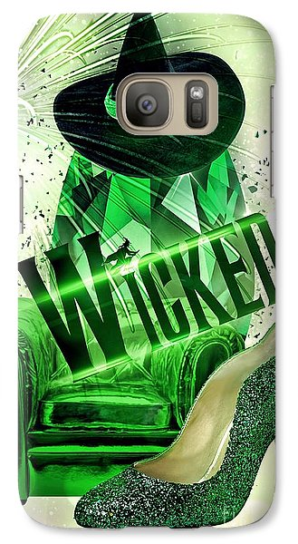 Galaxy Case featuring the digital art Wicked by Mo T