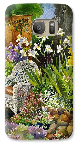 Galaxy Case featuring the painting Wicker Chair by Anne Gifford