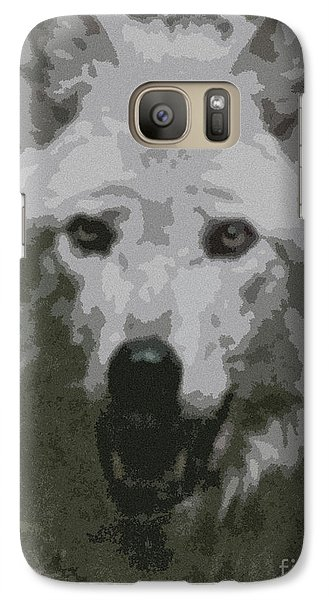 Galaxy Case featuring the painting Wide Eyes Vision by Debra     Vatalaro