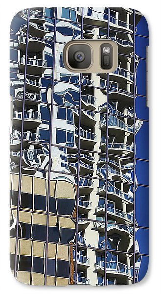 Galaxy Case featuring the photograph Wiggly Balconies by Phyllis Denton