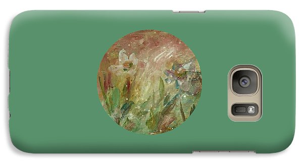 Galaxy Case featuring the painting Wil O' The Wisp by Mary Wolf
