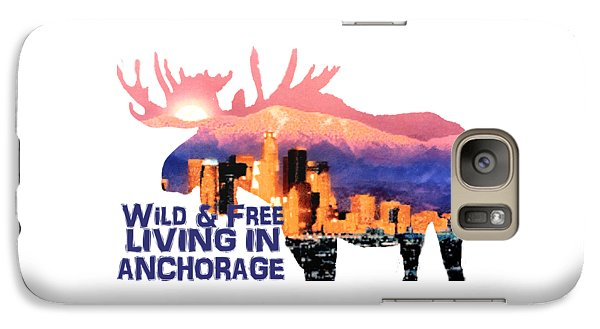 Galaxy Case featuring the digital art Wild And Free by Elaine Ossipov