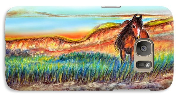 Galaxy Case featuring the painting Wild And Free Sable Island Horse by Patricia L Davidson