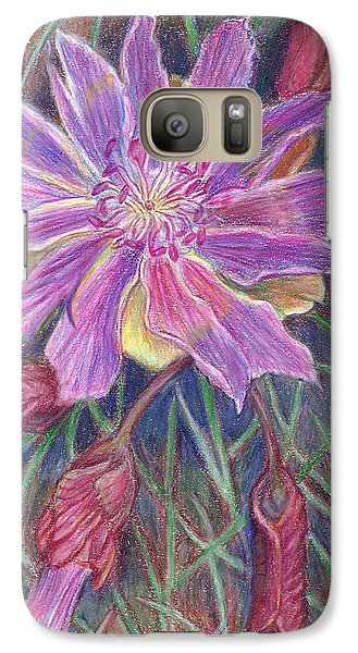 Galaxy Case featuring the drawing Wild Bitterroot Flower by Dawn Senior-Trask