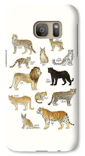 Tiger Galaxy S7 Case - Wild Cats by Amy Hamilton
