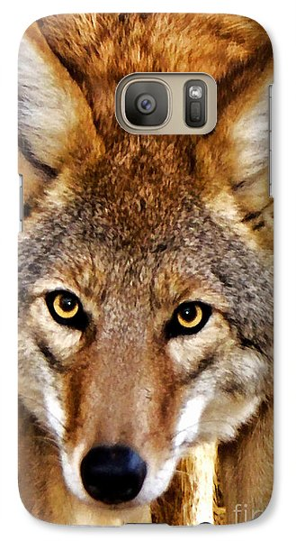 Galaxy Case featuring the photograph Wild Coyote by Adam Olsen