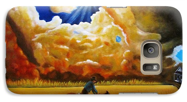 Galaxy Case featuring the painting Wild Fire  by Gene Gregory