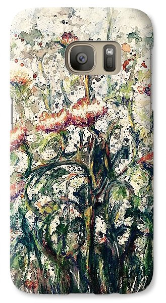 Galaxy Case featuring the painting Wild Flowers # 2 by Laila Awad Jamaleldin