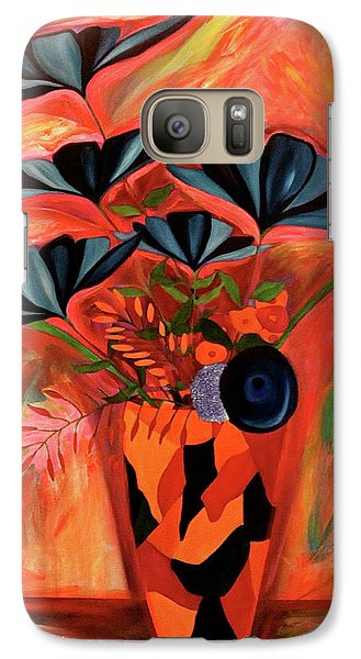 Galaxy Case featuring the painting Wild Flowers  A Still Life  by Iconic Images Art Gallery David Pucciarelli