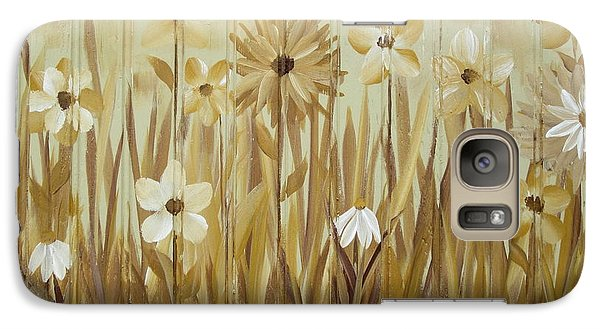 Galaxy Case featuring the painting Wild Flowers by Kathy Sheeran